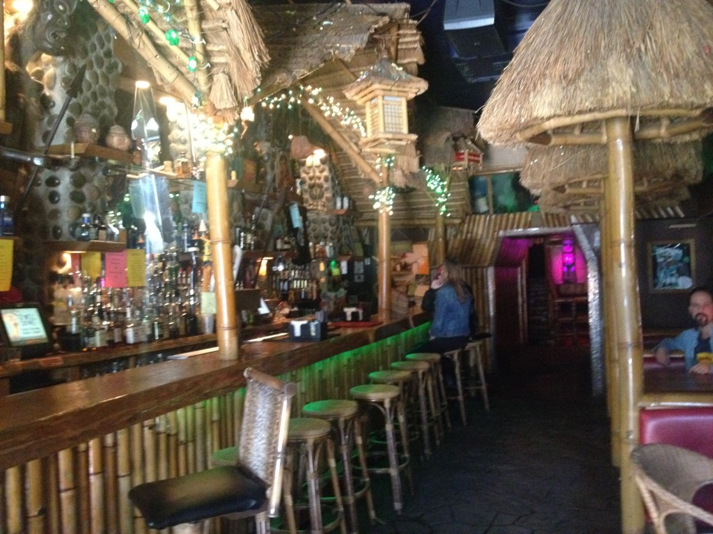The front room at The TIki Lounge