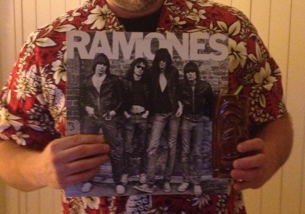 Ramones Album and Tiki Mug