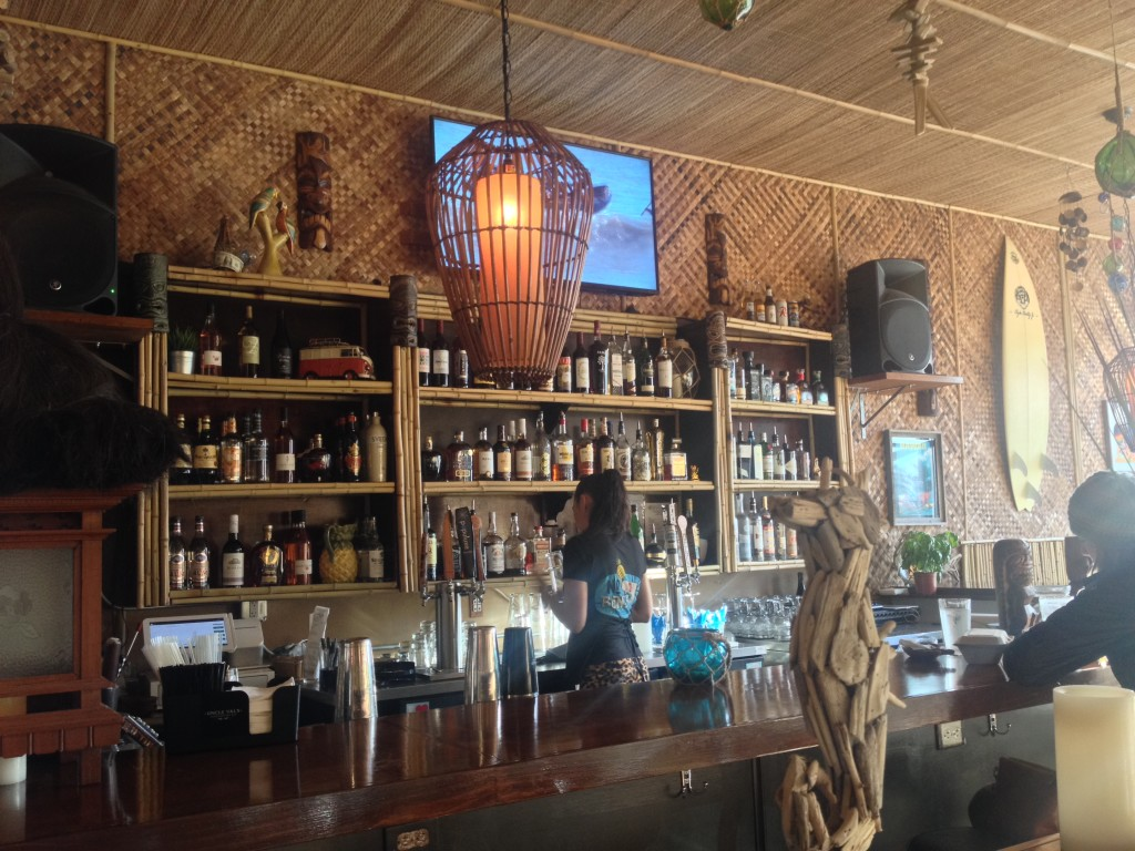 The bar at No Bones Beach Club
