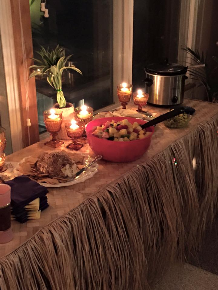 Spread at Tiki Party
