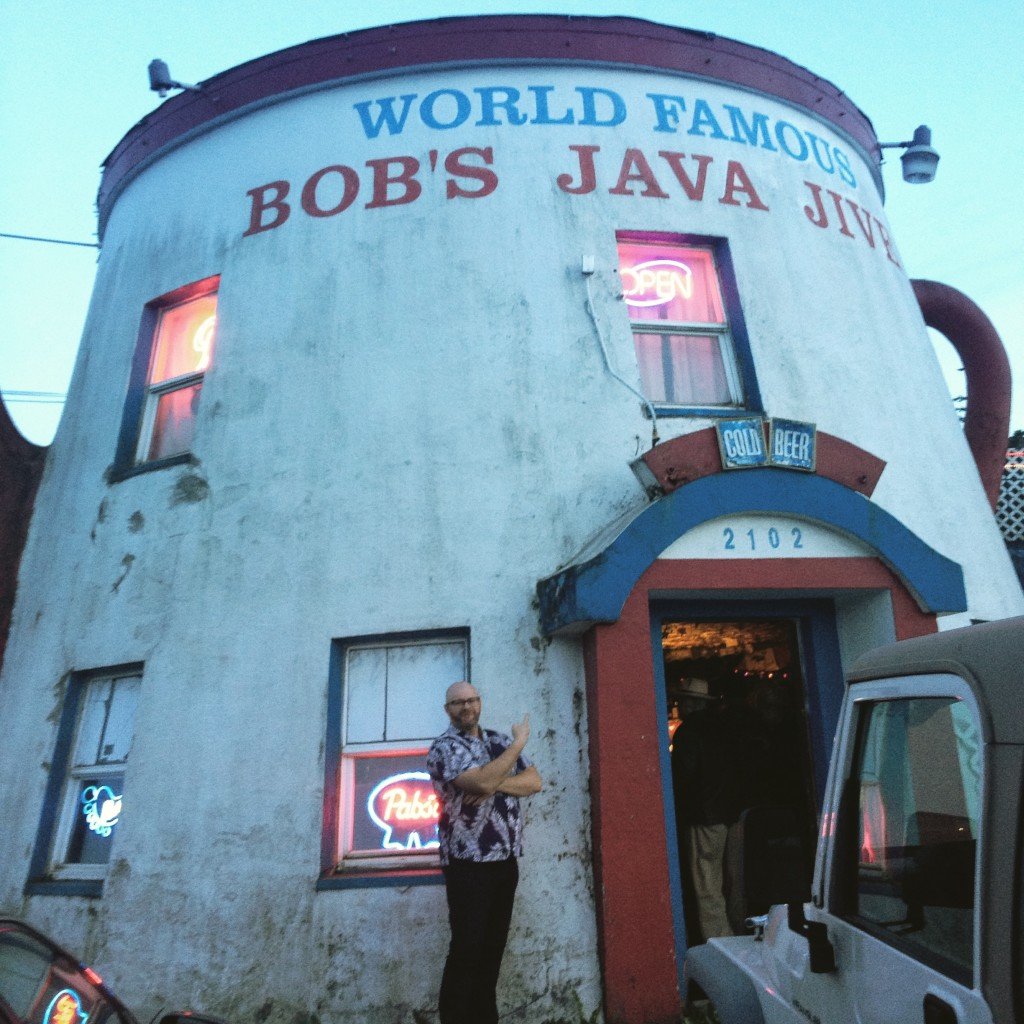 Ray in front of Bobs Java Jive