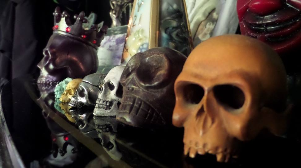 Skulls at Monkey Skull Voodoo Lounge