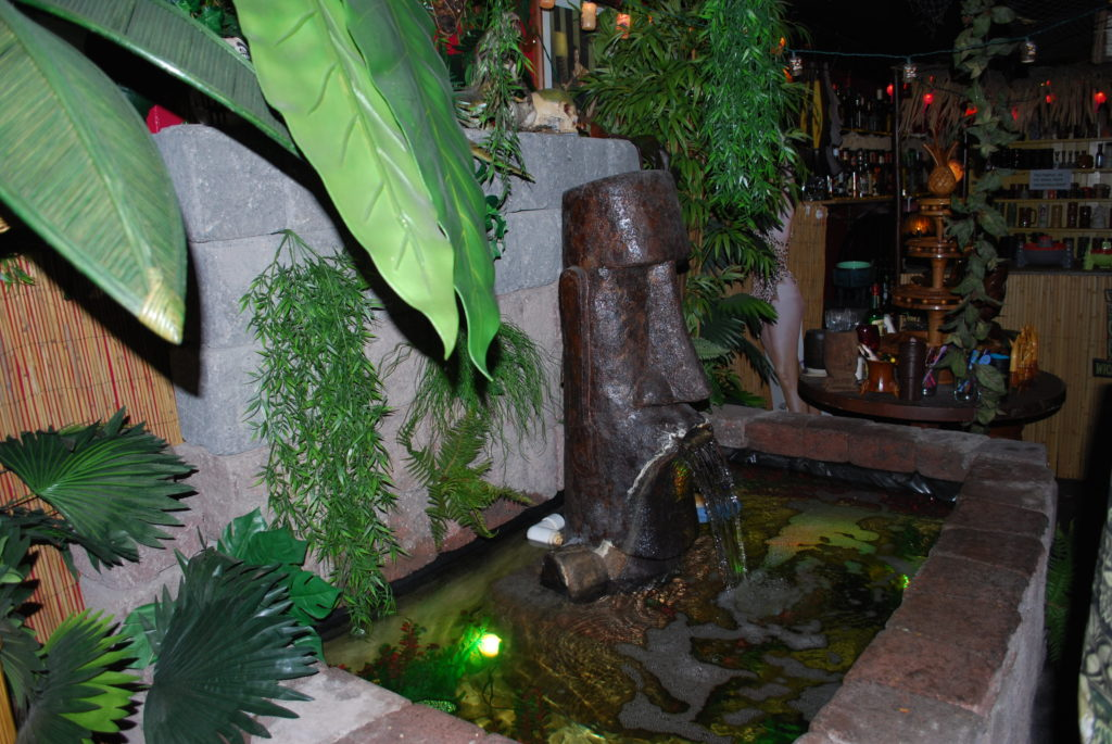 Water fountain at Monkey Skull Voodoo Lounge