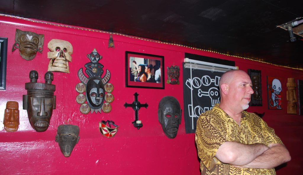 Pete owner of The Monkey Skull Voodoo Lounge