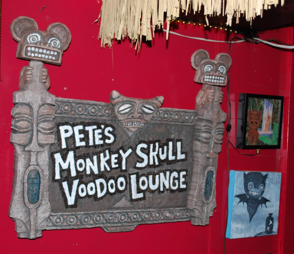 Monkey Skull Voodoo Lounge Sign