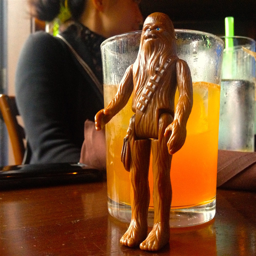 Chewie with the Philadelphia Fish House Punch