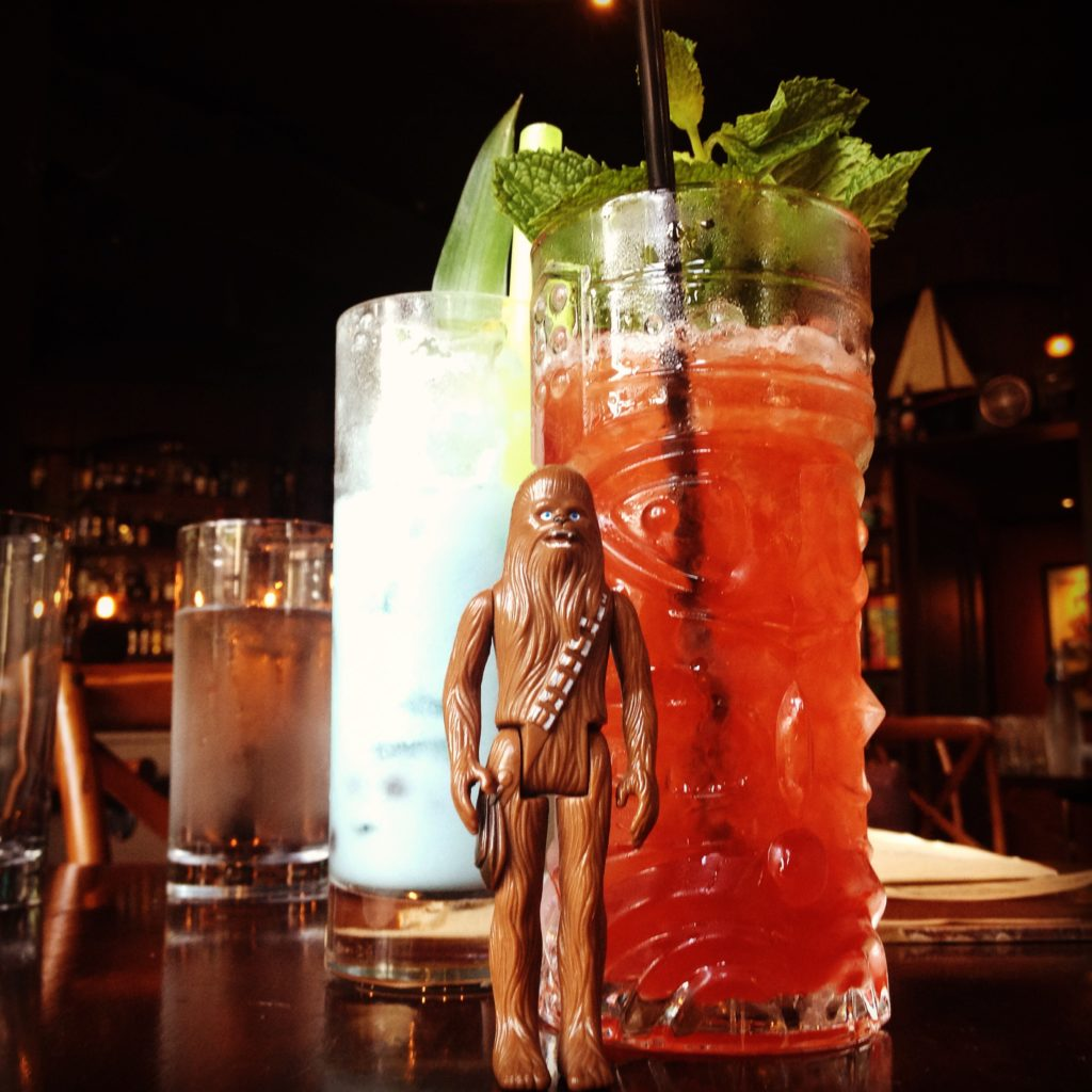 Chewbacca and a Tiki Drink at Rumba
