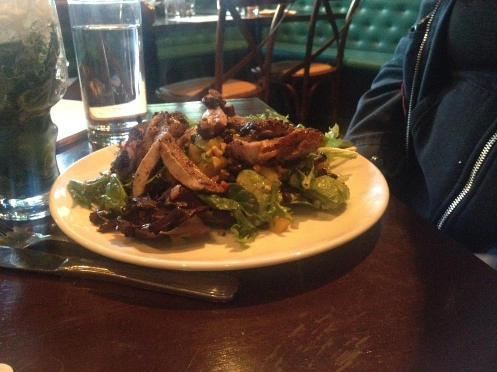 Caribbean Jerk Chicken Salad at Rumba