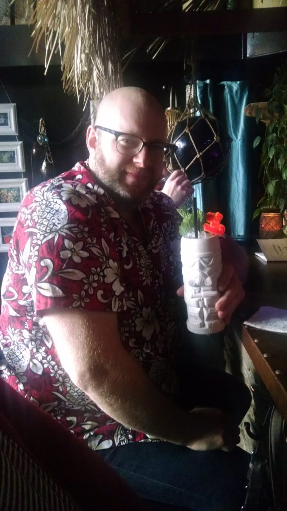 Ray with a Stormtrooper Swizzle at Tacoma Cabana