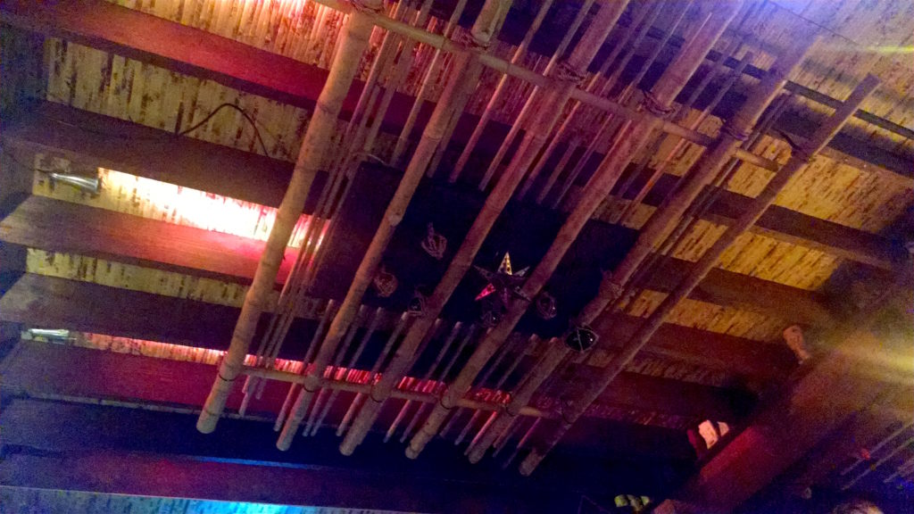 The Green Bamboo Lounge ceiling