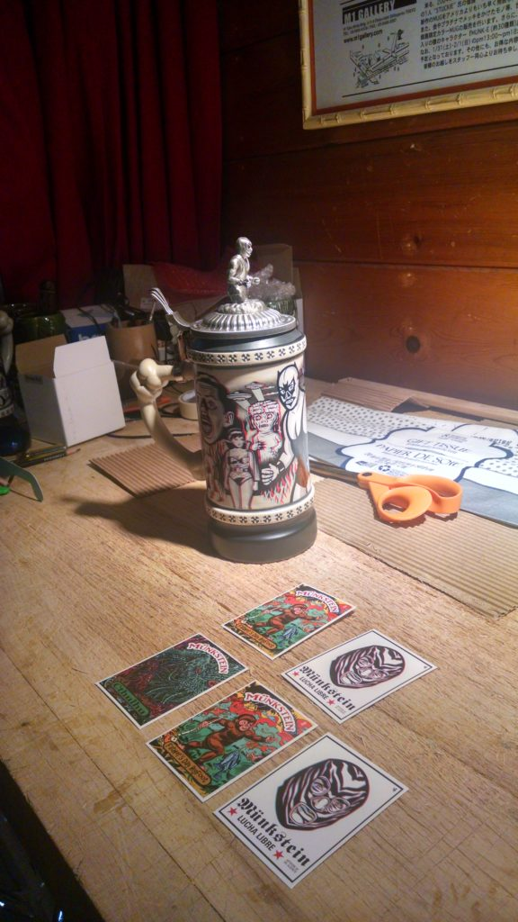 3-D Munkstein and trading cards