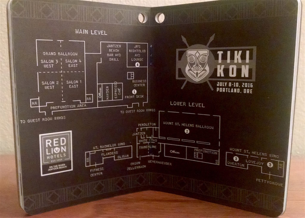 Tiki Kon 2016 passport map