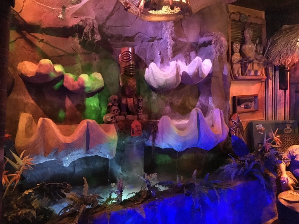 The waterfall at The Golden Tiki