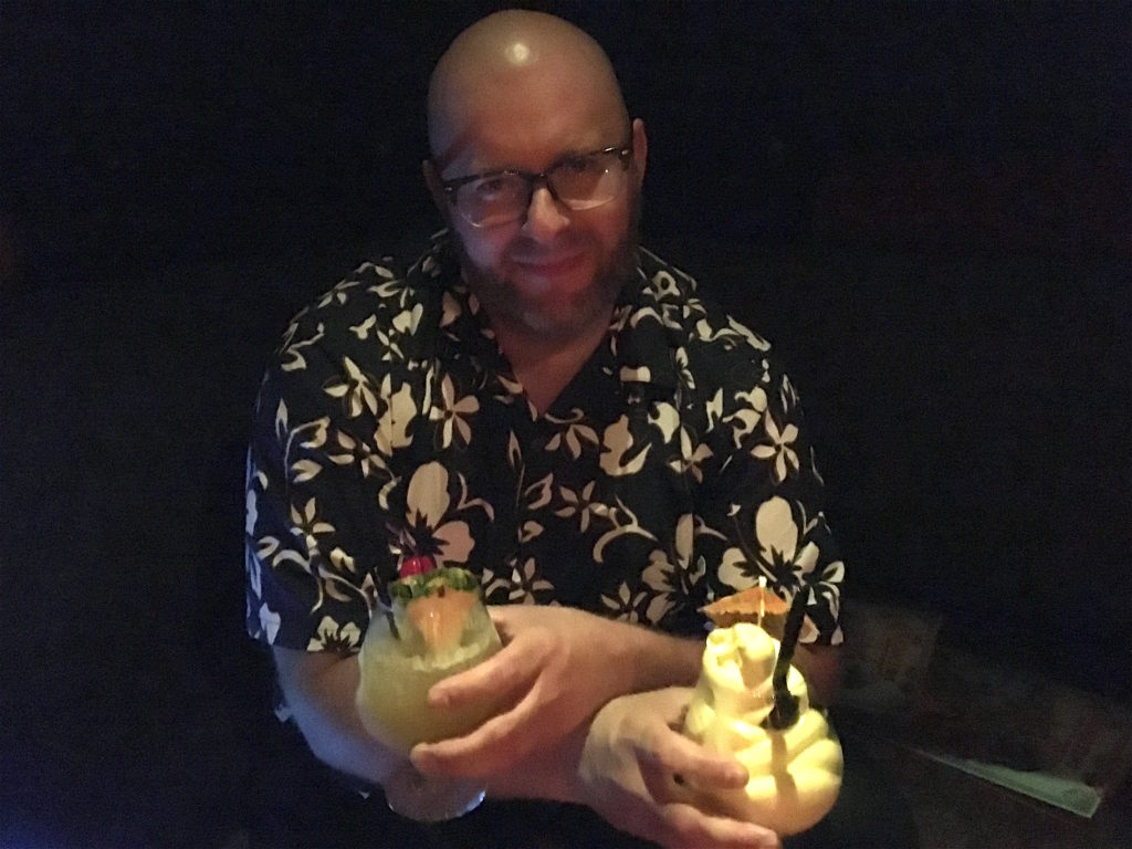 Ray with a Dole Whip and a 3 Dots And A Dash
