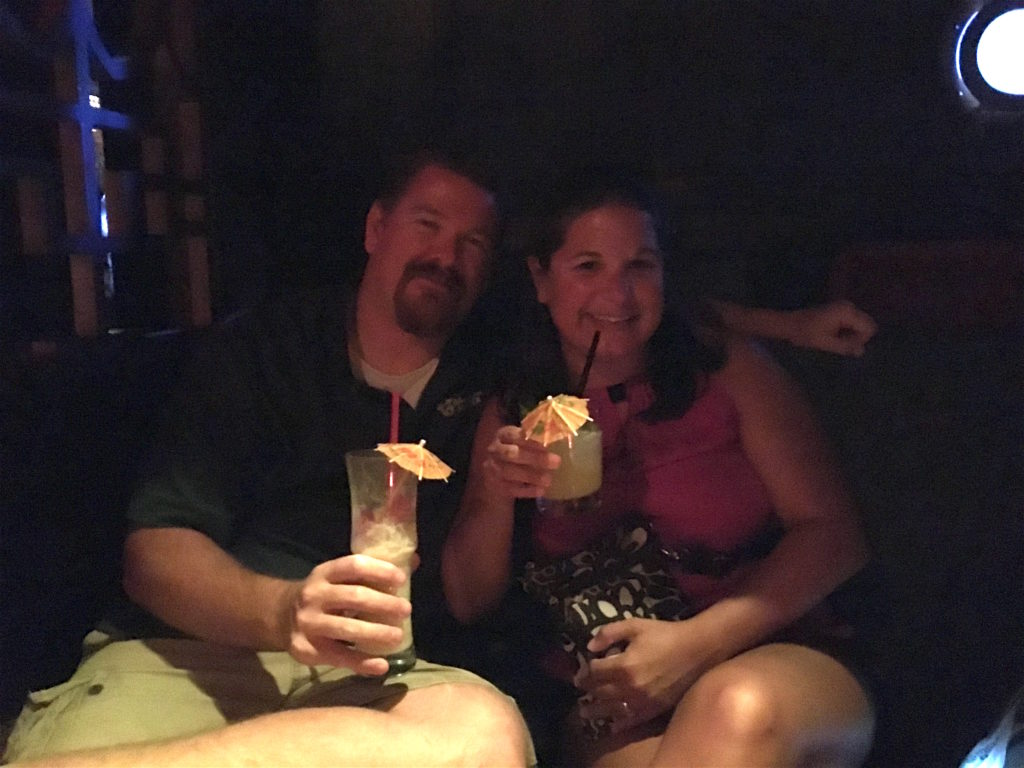 Doug and Stephanie at The Golden Tiki
