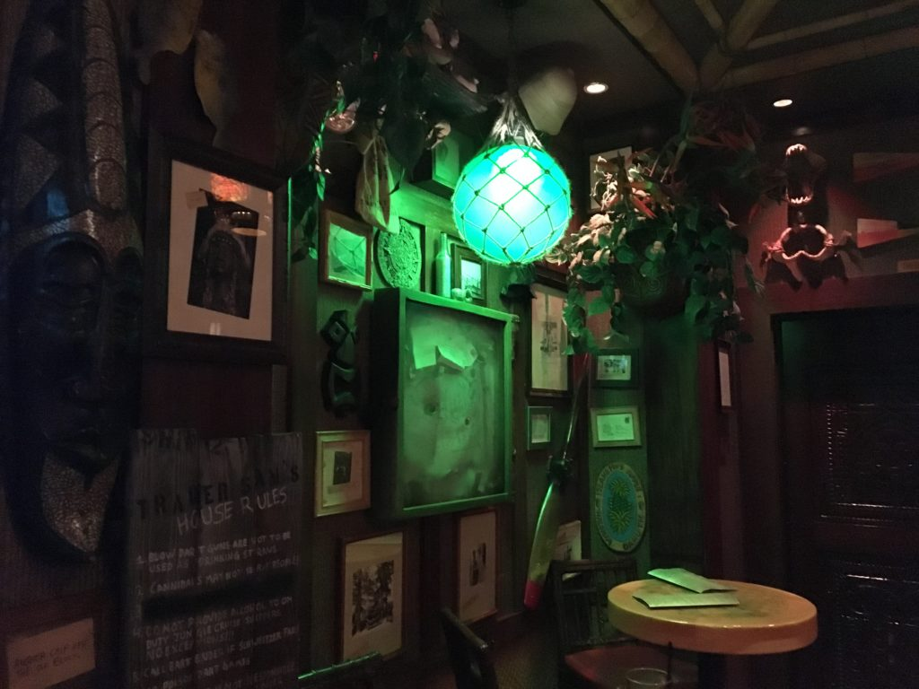 Trader Sam's decor