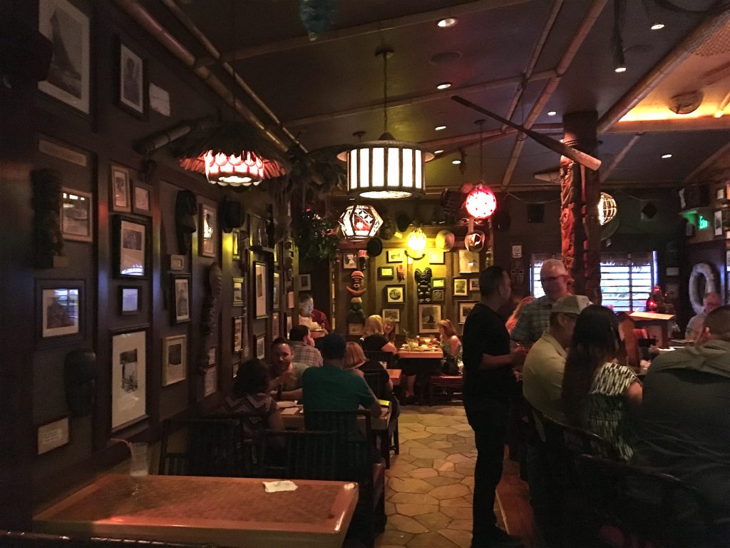 Seating at Trader Sam's