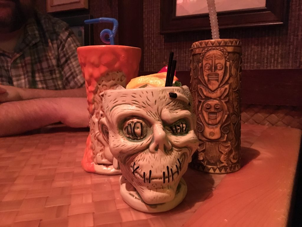 Tiki mugs at Trader Sam's