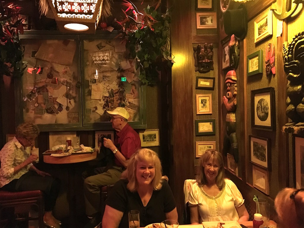 People enjoying themselves at Trader Sam's