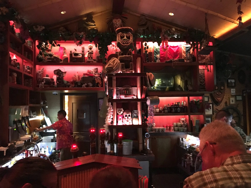 The bar at Trader Sam's