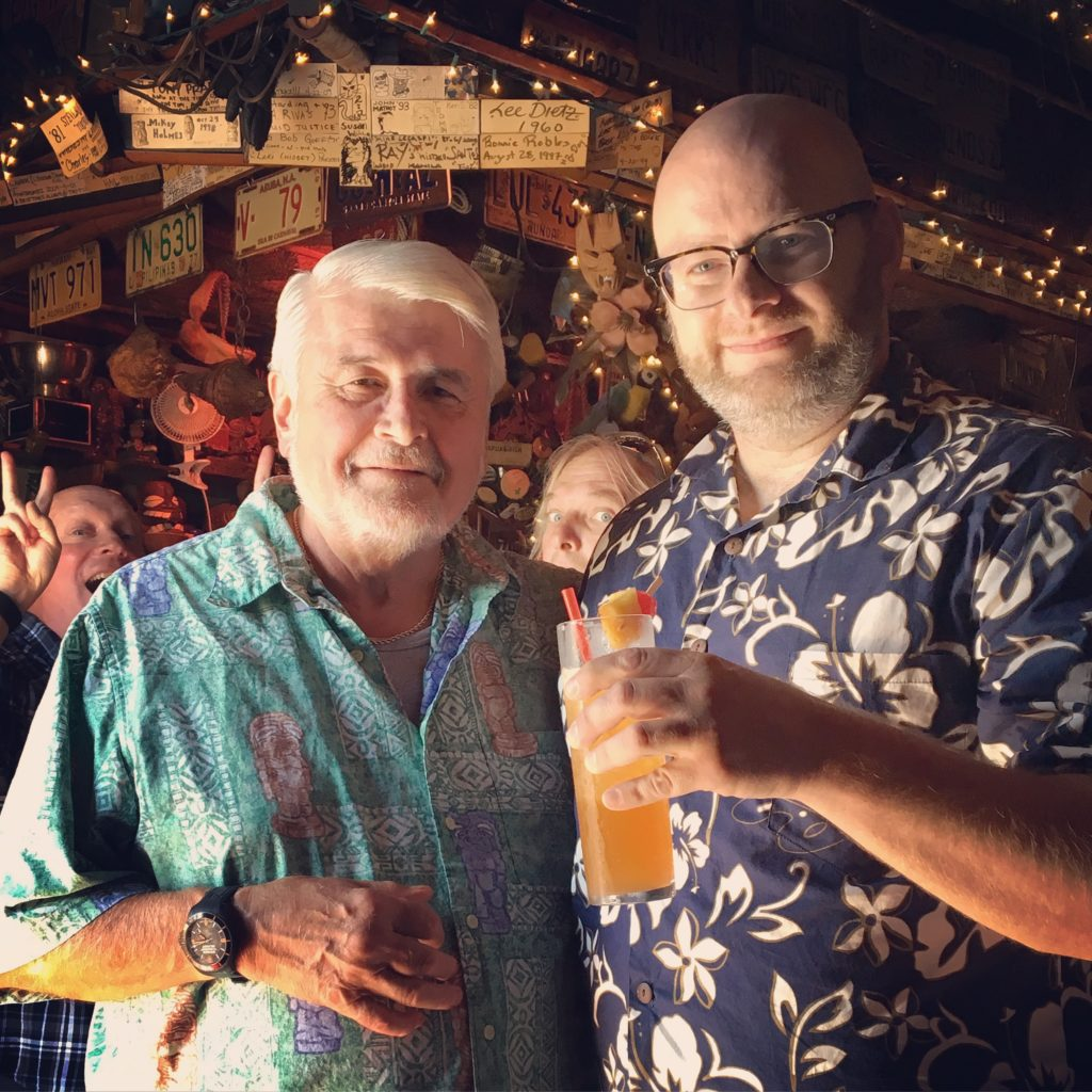 Ray with Mike Buhen the owner of Tiki Ti