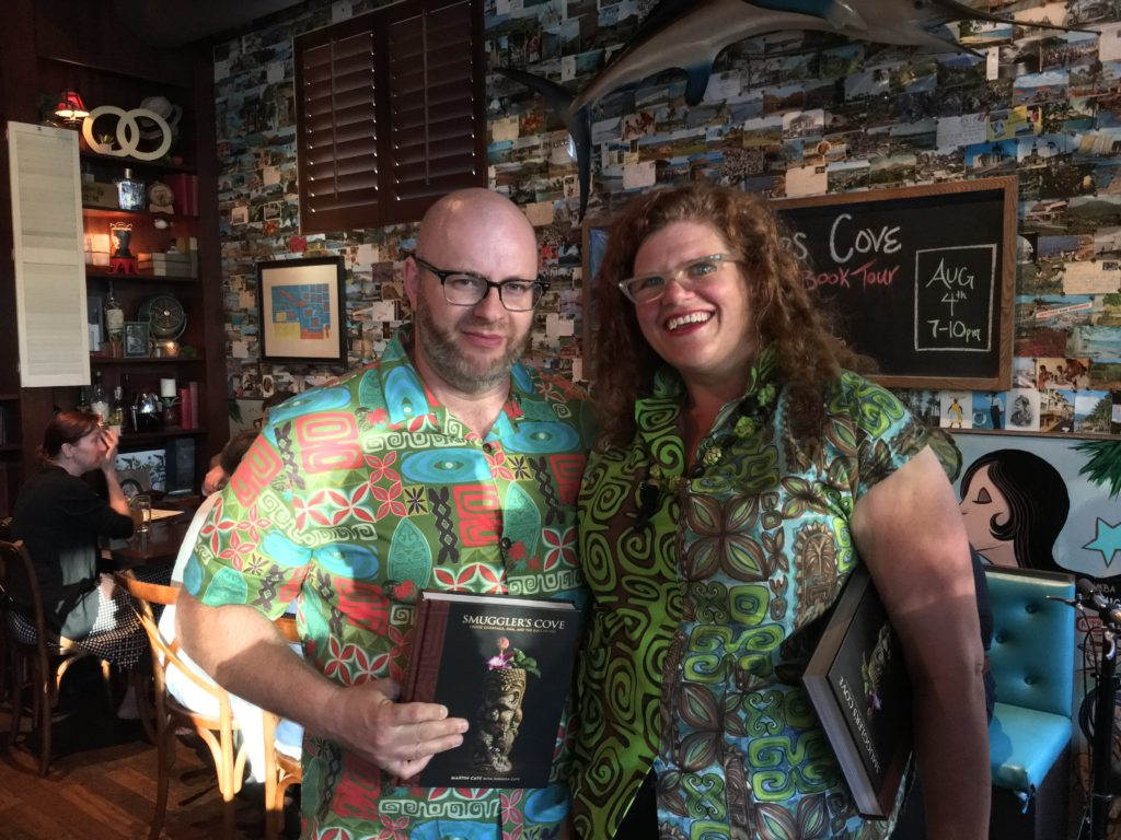 Dawn Frasier and Ray at The Smuggler's Cove Book Signing Rumba Seattle