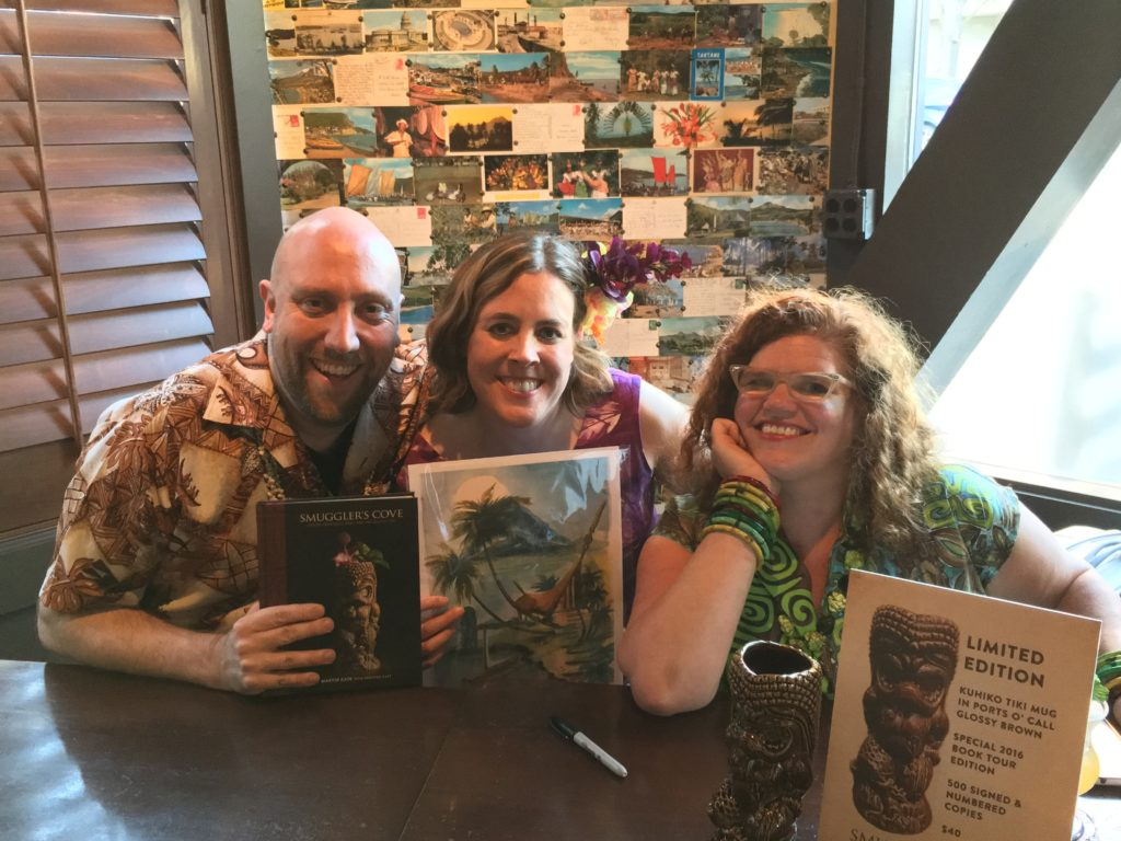 Rebecca, Martin and Dawn at The Smuggler's Cove Book Signing, Rumba Seattle