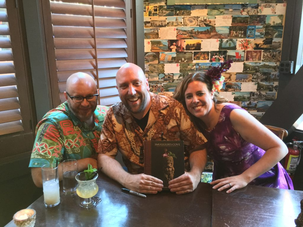 Rebecca, Martin and Ray at The Smuggler's Cove Book Signing, Rumba Seattle
