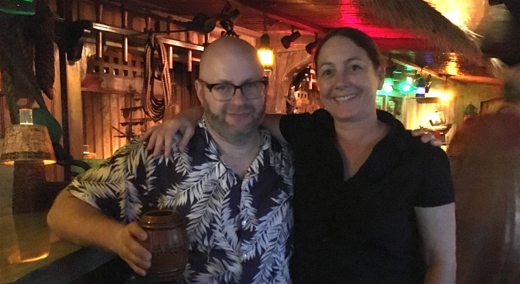 Ray with Leslie Thibodeau at The Mai Kai