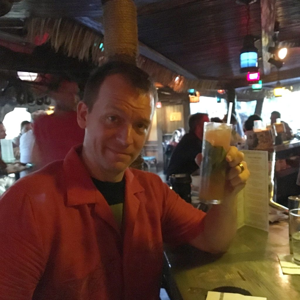 Dave drinking a Zombie at The Mai Kai