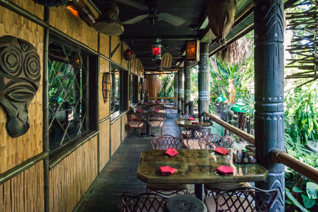 Outside seating at The Mai Kai