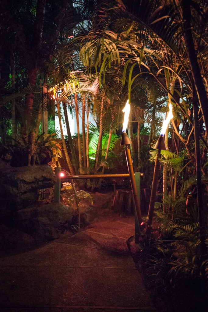 Mai Kai Tropical Garden at night