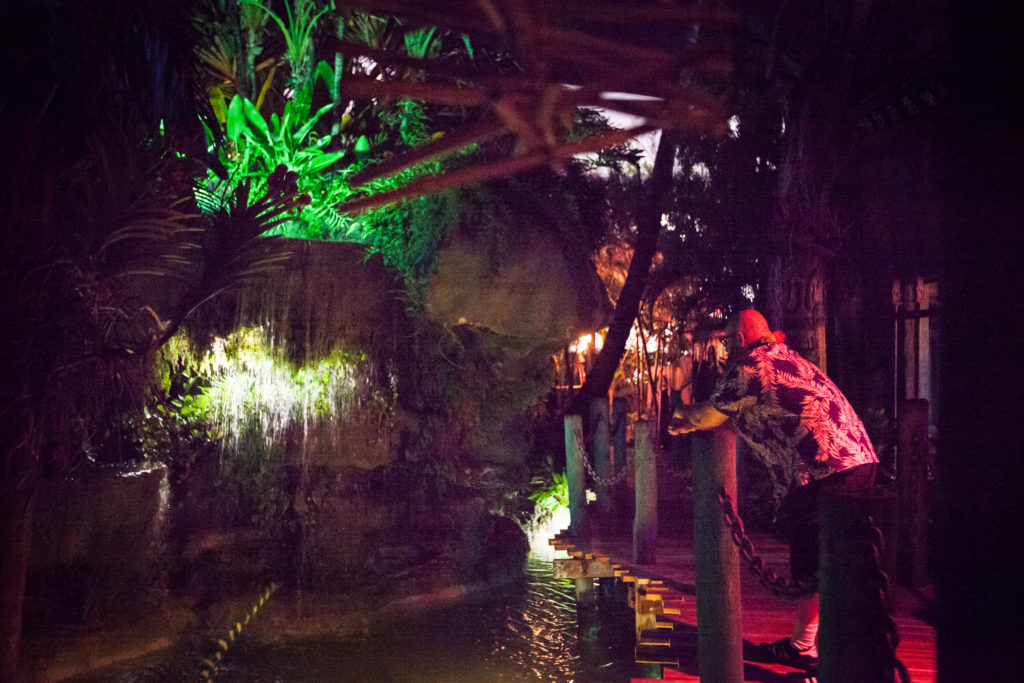 The Mai Kai Gardens at night
