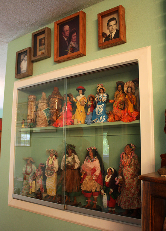 Doll collection at upstairs at The Fuzzy Smudge
