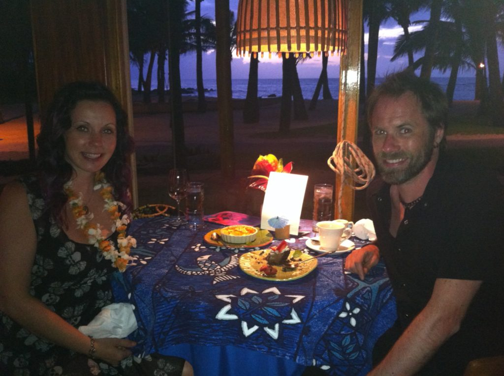 Josie and Mike at Mama's Fishhouse, Maui