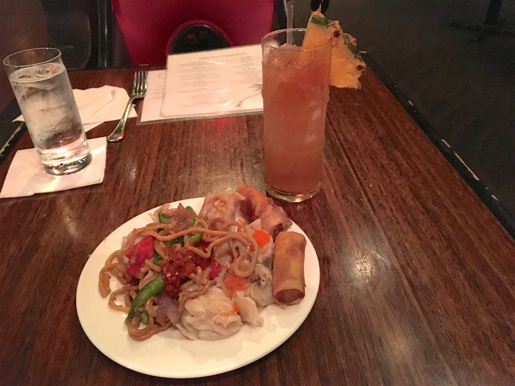 Happy hour buffet at The Tonga Room
