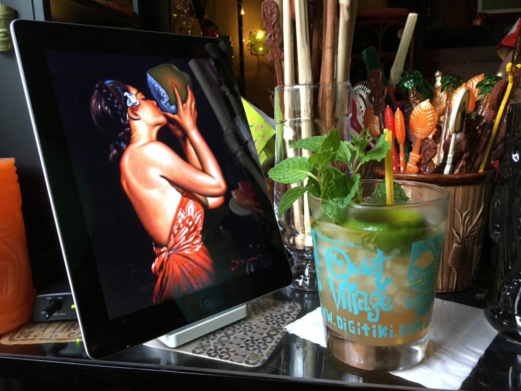 A Mai Tai at The Alta Tiki Lounge