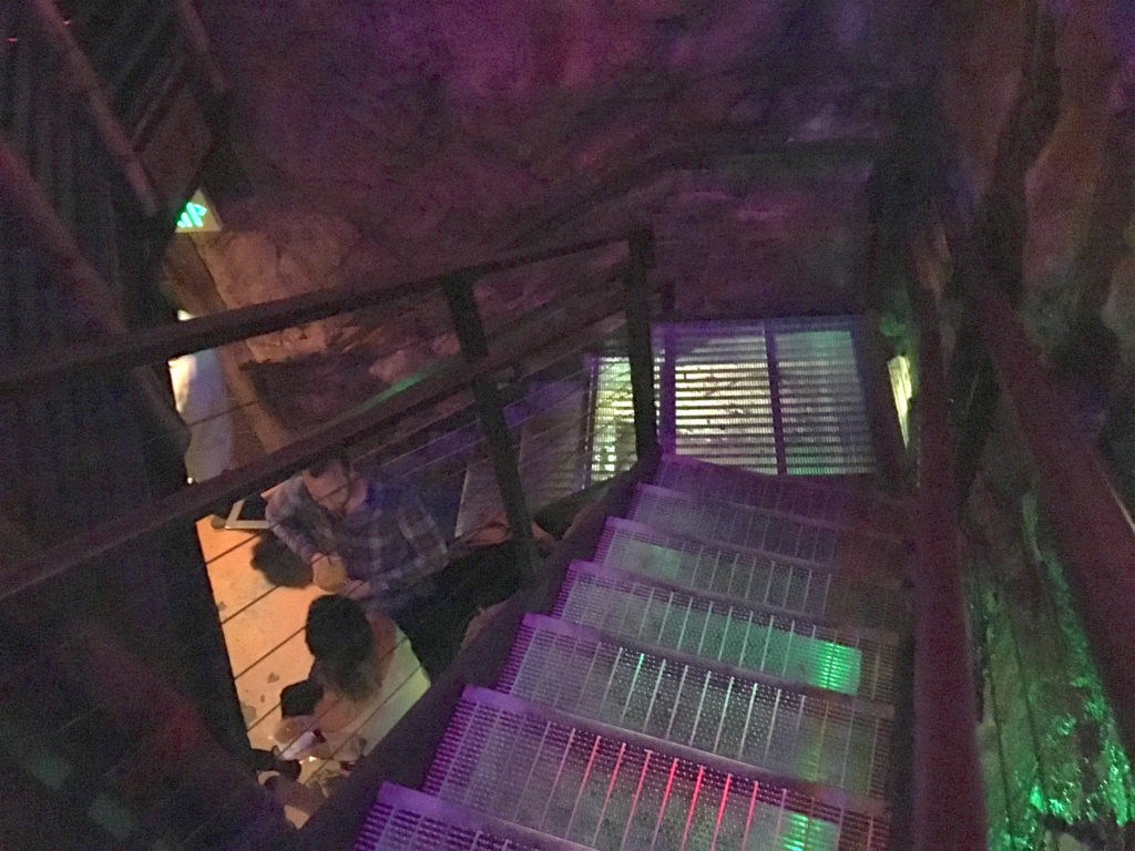 Going downstairs at Smuggler's Cove