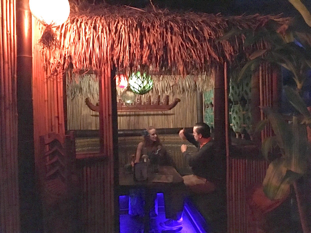 Humuhumu and Brian in the hut at Pagan Idol