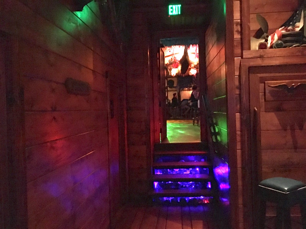 Entrance into the Tiki bar