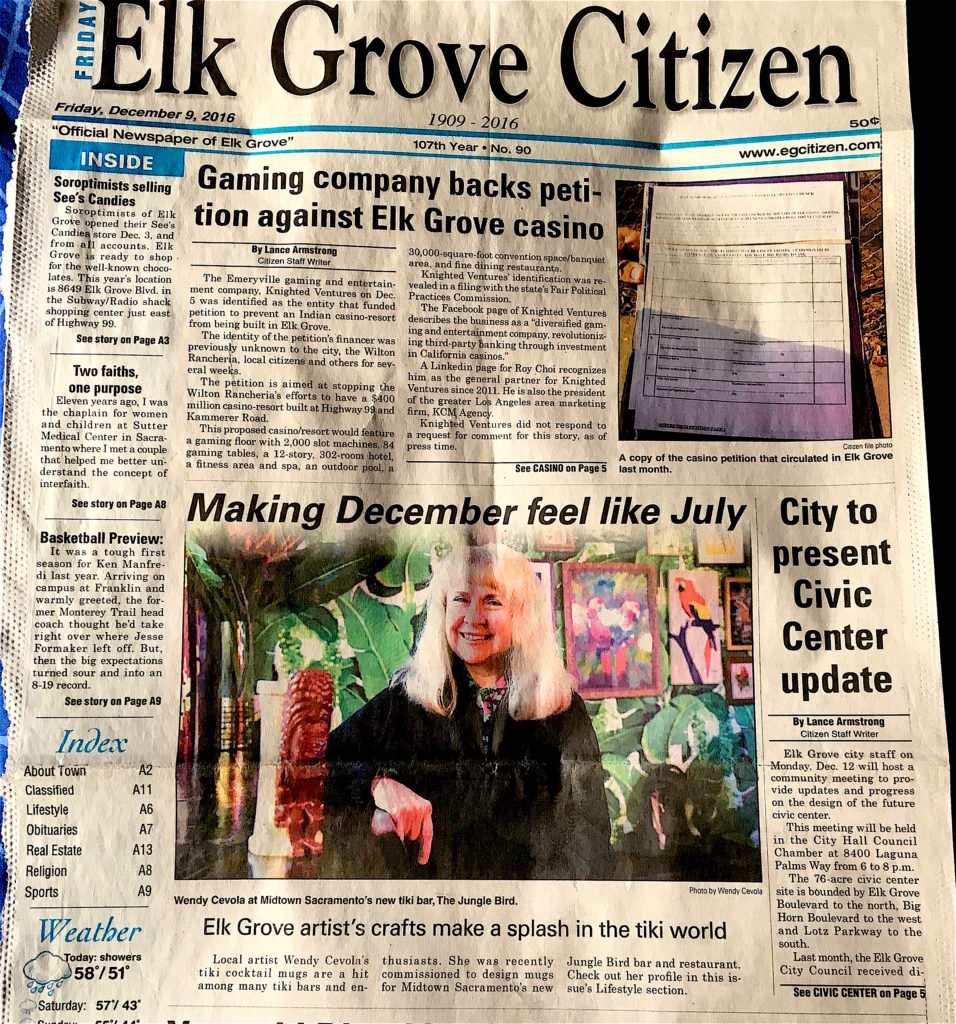 Wendy in the Elk Grove Citizen newspaper clipping