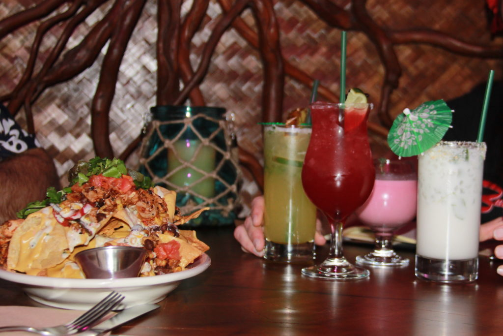 Tiki Drinks and Nachos at No Bones Beach Club