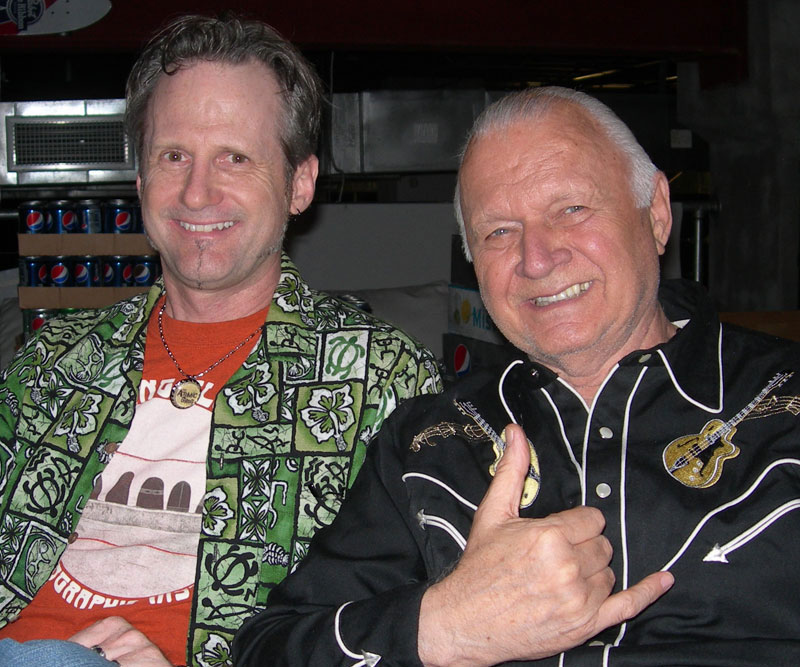 "Jim ""Hurricane"" Hayward with Dick Dale"