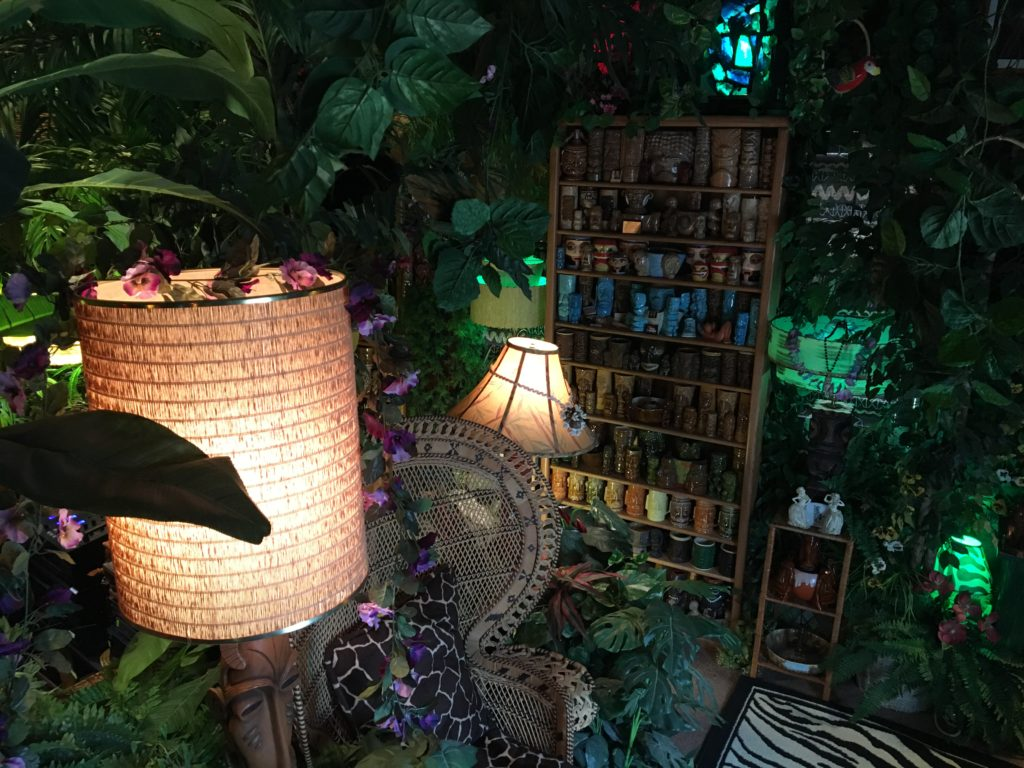 The Tiki Jungle Room at Wendy and Dan Cevola's home