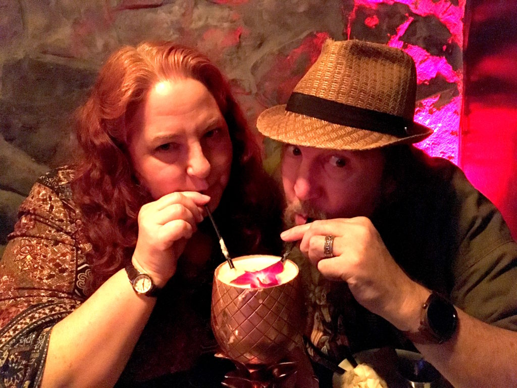 Eva and Dave enjoying a Macadamia Nut Chi Chi