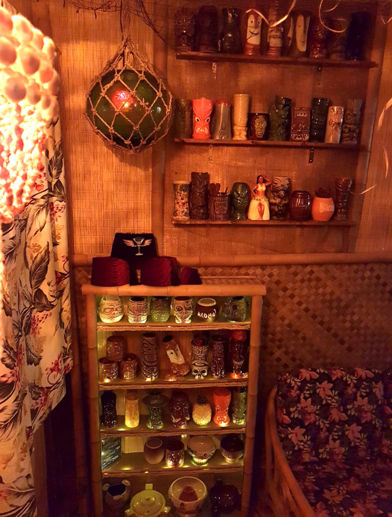 Tiki mug collection at the Lime Lounge
