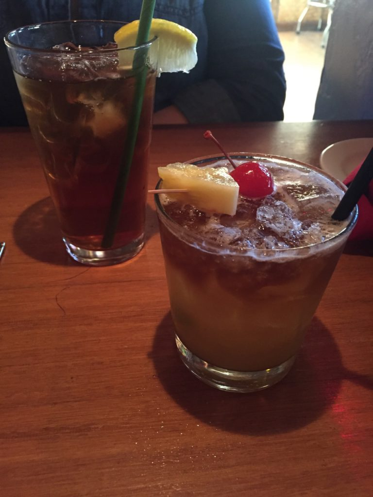 The Mai Tai was well done (the iced tea was tropical and really good too).
