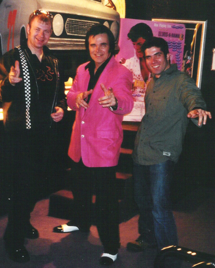 "Ray and Tom with ""Elvis"""