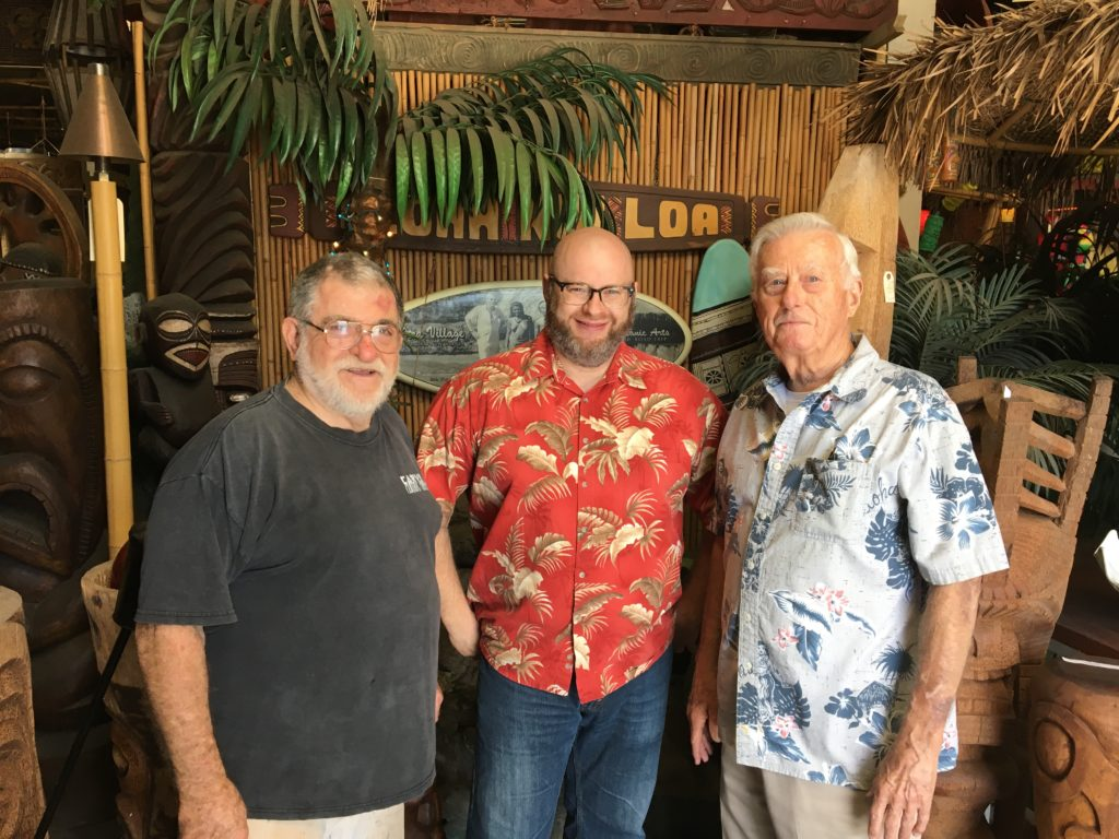 Ray with Leroy and Bob of Oceanic Arts
