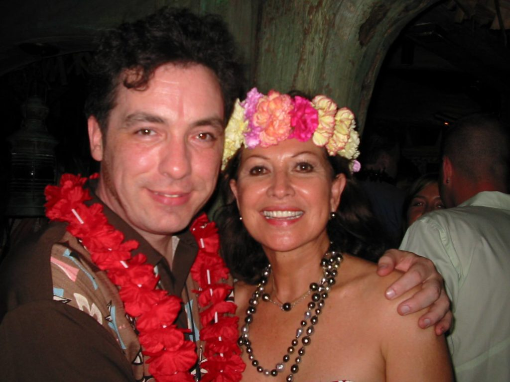 With Mai-Kai owner Mireille Thornton in 2004